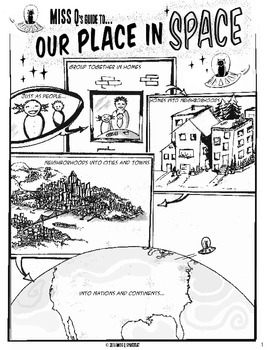 Miss Q's Guide to Our Place in Space--Space Systems Comic
