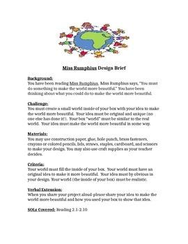 Miss Rumphius Design Brief