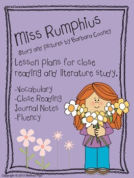 Miss Rumphius by Barbara Cooney Literature Pack [Common Co
