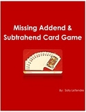 Missing Addend and Subtrahend Game