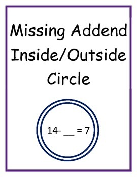 Missing Addend Inside/Outside Circle