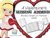 Missing Addend {K/1 Valentine's Day Math Game/Activity} #k
