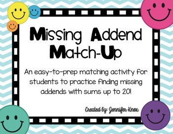 Missing Addend Match-Up