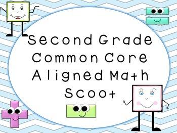 Second Grade Common Core Review Math Scoot