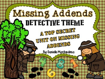 Missing Addend Unit {Detective Theme- Posters, Printables,