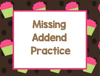 Missing Addends Smart Notebook