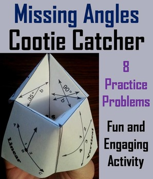 Missing Angles Practice/ Missing Angles Activity/ Missing