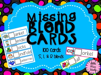 Missing Blends Cards - Beginning blends S, L & R