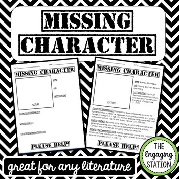 Missing Character Assignment for ANY Literature