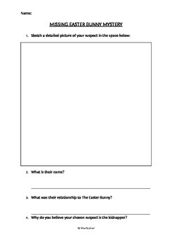 Missing Easter Bunny Mystery Worksheets