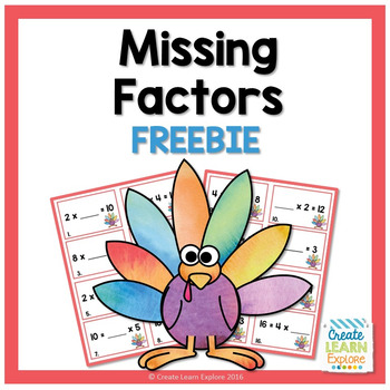 Missing Factor Thanksgiving Turkey Freebie