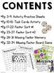 Missing Factors - Activity Pack