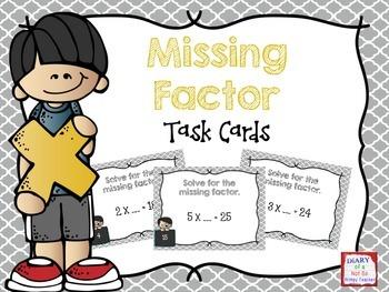 Missing Factors Task Cards