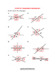 Missing Measures: Intersecting Lines Worksheet #1
