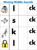 Missing Middle Vowel Sounds Magnetic Board Activity