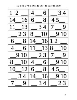 Missing Number 1-20