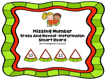 Missing Number Erase And Reveal -Watermelon For Smart Board