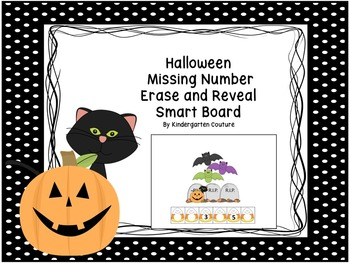 Missing Number Erase and Reveal (#1-20) Halloween Theme