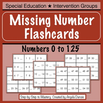 Missing Number Flashcards (0 to 125)