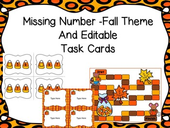 Missing Number Game -Fall Theme