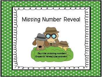 Missing Number Reveal Numbers 0-20  SMART Board