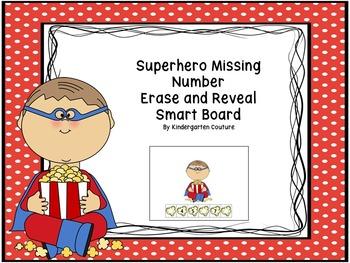 Missing Number Erase And Reveal Numbers 1-20 Superhero