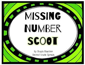 Missing Number Scoot (2nd Grade MCLASS Math)