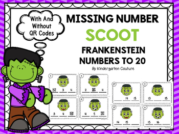 Missing Number Scoot  Frankenstein   Numbers To 20