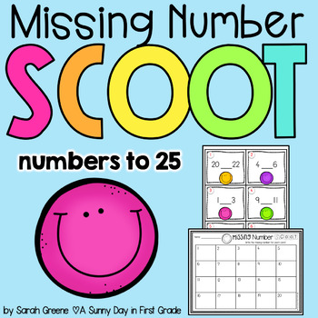 Missing Number Scoot! {#s to 25} FREEBIE!