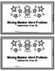 Missing Number (Subtraction) Word Problems Books