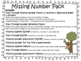 Missing Number in Addition/Subtraction Problem Activities