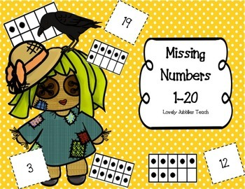 Missing Numbers 1-20 Cut and Paste