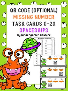 Missing Numbers 1-20 Spaceships (QR Code Optional)