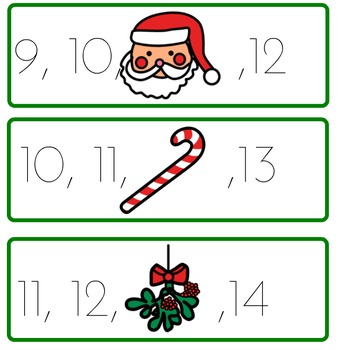 Missing Numbers: Christmas Theme