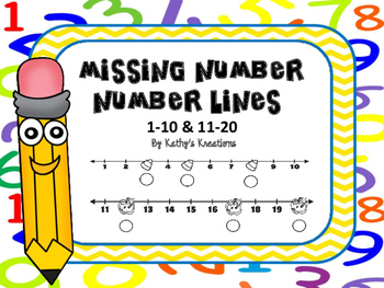 Missing Numbers On The Number Line -Fall