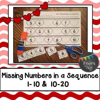 Missing Numbers in a Sequence (1-10 and 10-20; Common Core