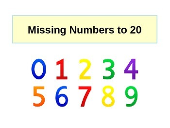 Missing Numbers to 20 Number Line Activity