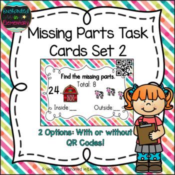 Missing Part Task Cards Set 2: 1st Grade CC: Operations &