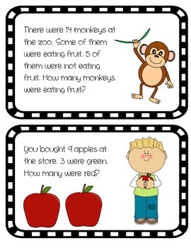 Missing Part Word Problem Cards 1.OA.1
