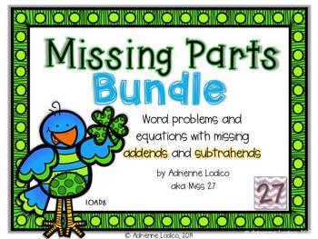 Missing Parts Bundle: Missing addend & subtrahend activiti