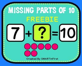 Missing Parts of 10 Freebie