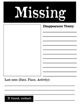 Missing Persons Poster