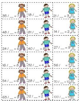 Missing Quotients *DIVISION* (3.OA.B6)