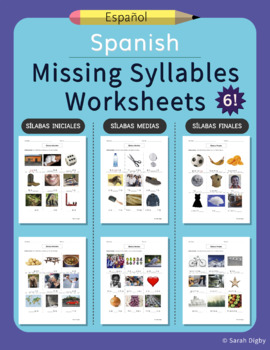 Spanish Missing Syllables Worksheets – Set of 5