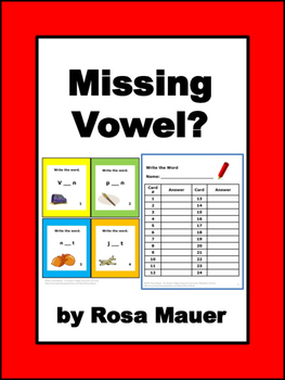 Missing Vowels Task Cards