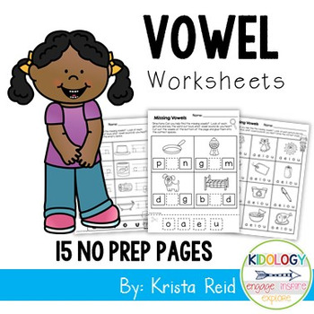 Phonics: Vowels  - Worksheets and No Prep Printables