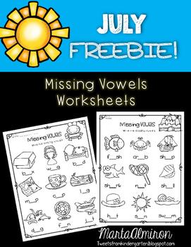 Missing Vowels FREEBIE