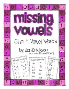 Missing Vowels:  Short Vowel Words