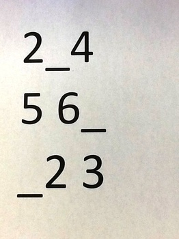 Missing number power point
