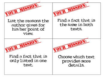Mission Cards: Informational